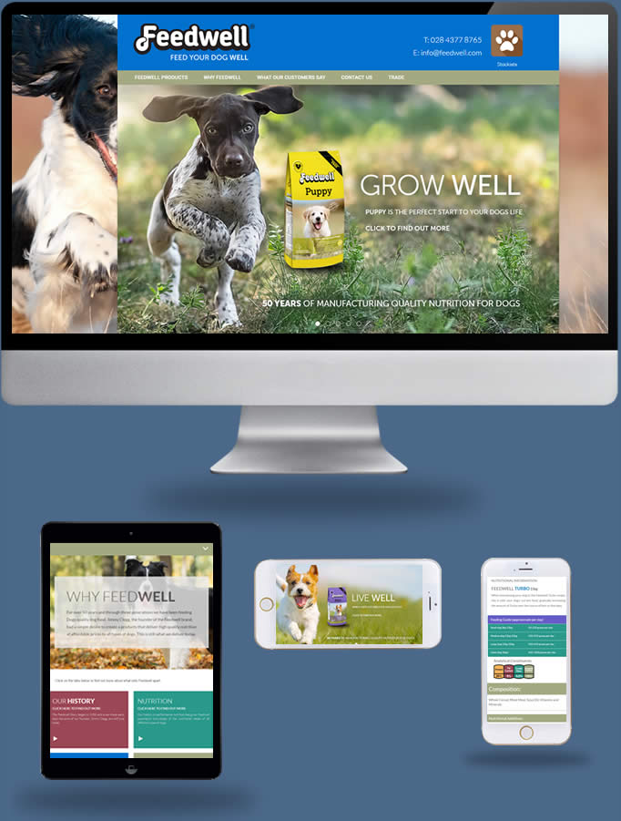Feedwell Dog Foods - Truska Web Site Design