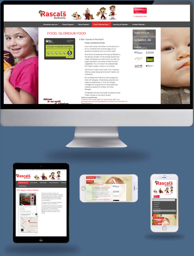 Rascals Day Nurseries - Truska Web Site Design